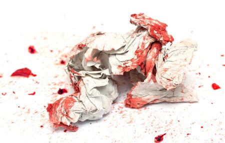 digitized: wrinkled paper blood