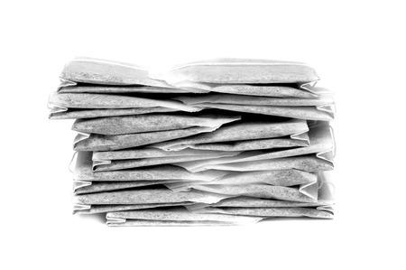 Tea bags on a white background photo