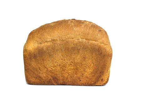 unsliced: Whole fresh loaf of bread isolated on white Stock Photo