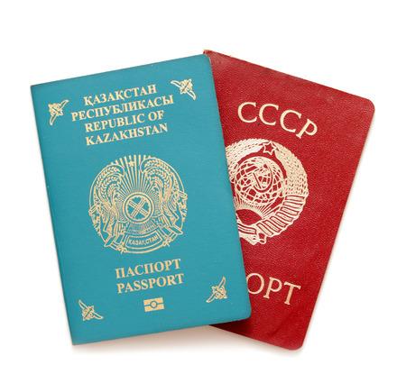 Kazakhstan passport documents Reklamní fotografie