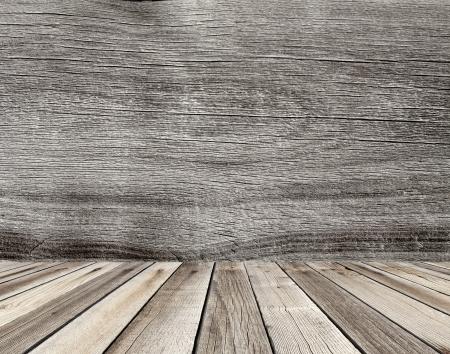 straggly: wooden interior room