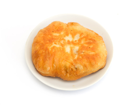 fried pies with meat on a white background photo