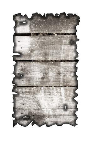 charred: charred wood board isolated on white Stock Photo
