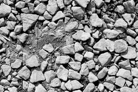 black granite stones pebbles white background photo