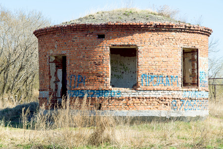 view of an old brick building, architecture photo