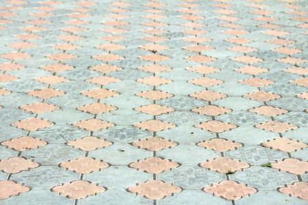interlocked: Abstract  - gray paving slabs Stock Photo