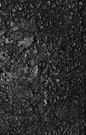 soot: black soot on metal background Stock Photo