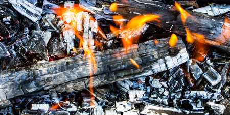 abstract background burning coals photo