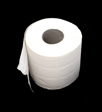 roll of white toilet paper photo