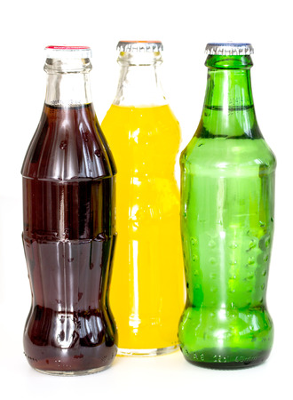 bottles of soda isolated on a white background
