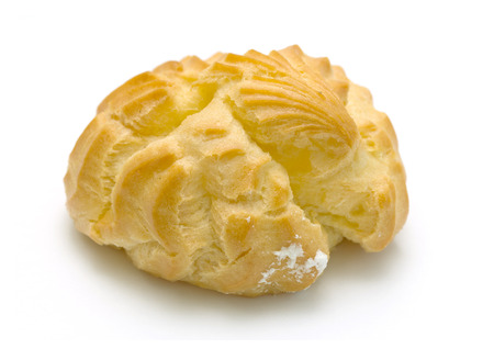 choux pastry on a white background photo