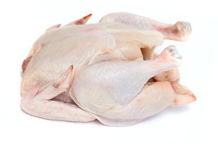 carcasse: la viande de la carcasse de poulet sur un fond blanc