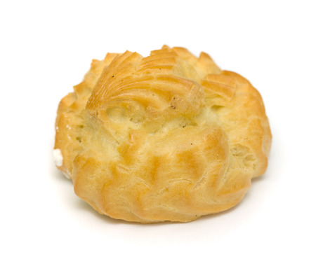 creampuff: choux pastry on a white background