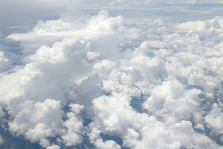 airplane window: Clouds, a view from airplane window