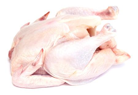 karkas: kip karkas vlees op een witte achtergrond Stockfoto