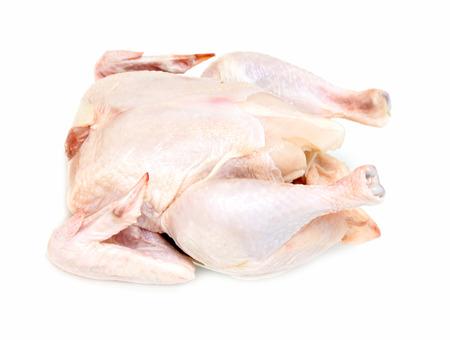 carcass: kip karkas vlees op een witte