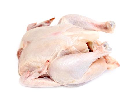 carcasse: viande de carcasse de poulet sur un fond blanc