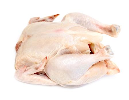 karkas: kip karkas vlees op een witte