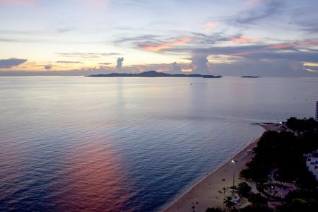 sun sky: evening sunset sun sky sea