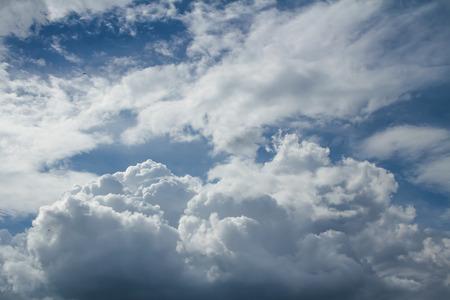 nimbi: cumulus clouds and a blue sky  Stock Photo
