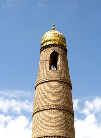 prayer tower: Muslim prayer tower on sky