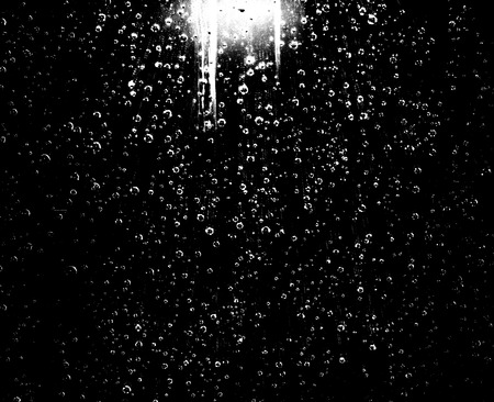 water drops bubbles on a dark