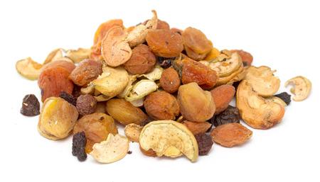 frutas deshidratadas: frutos secos, manzanas, peras, albaricoques, ciruelas, uvas