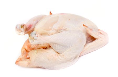 carcass: kip karkas vlees op een witte achtergrond Stockfoto