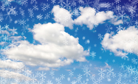 immense: sky clouds snow, Christmas mood