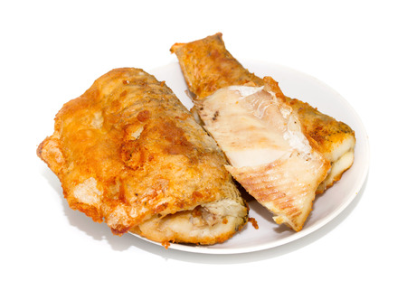 fried fish on a plate Stock Photo