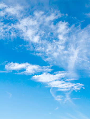 cirrus clouds in the blue sky Stock Photo