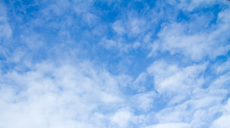 precipitation: cirrus clouds in the blue sky Stock Photo