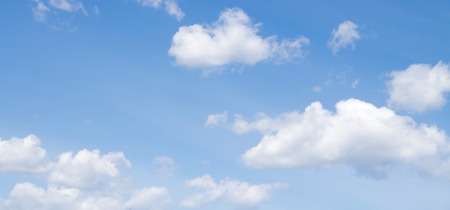 sunny sky: blue sky clouds Stock Photo