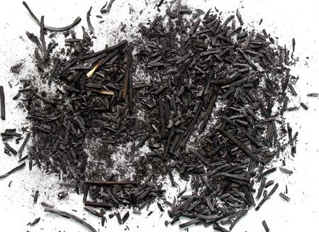 ash: black ash on a white background