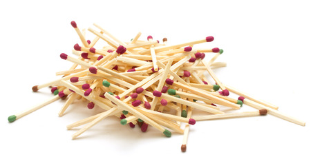 blank bomb: wooden matches Stock Photo
