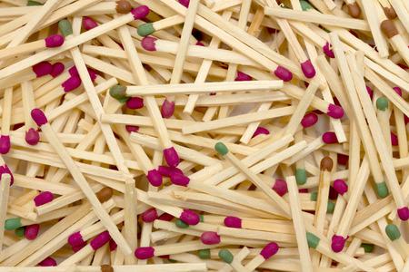 matches: f�sforos de madera Foto de archivo