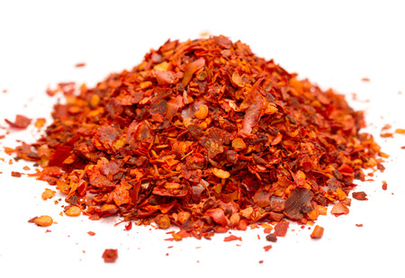 ground red chili pepper  paprika isolated on white background