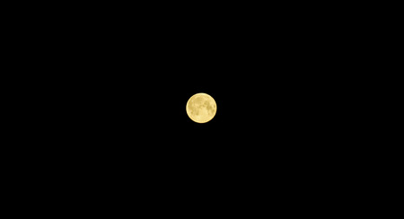 round moon on a black background