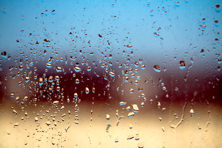 raindrops on window glass, background