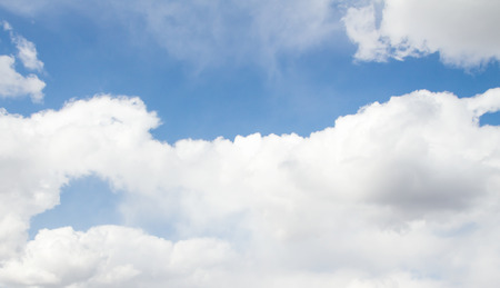 white clouds: the dark blue sky on which there are white clouds