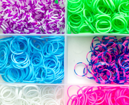 rubber bands: rubber bands on a white background Stock Photo