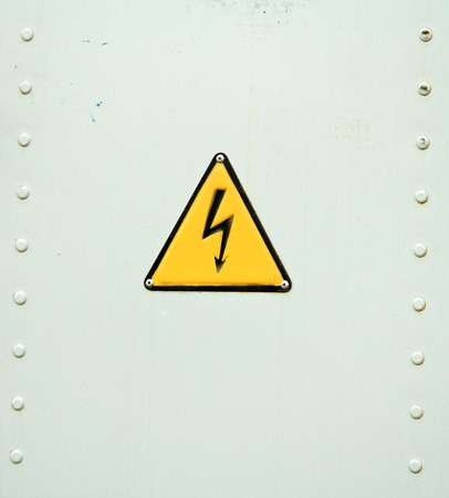 grates: door with the sign of lightning electricity