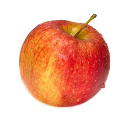 白で隔離赤いリンゴ 写真素材