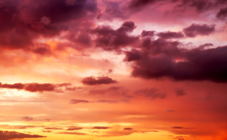 paarse zonsondergang hemel Stockfoto