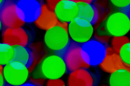 blue green background: bokeh background, green, red, blue Stock Photo