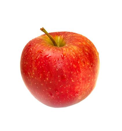 manzana: manzana roja sobre fondo blanco