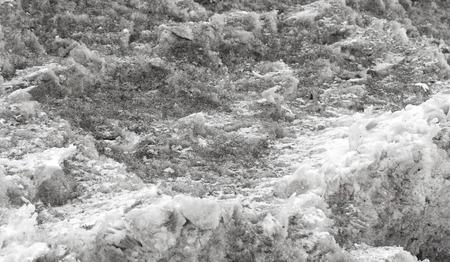slushy: dirty black snow background