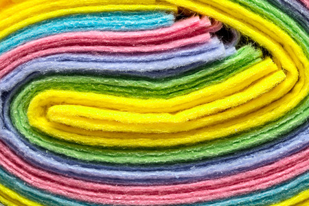 terry: Terry towels of different colors Stock Photo