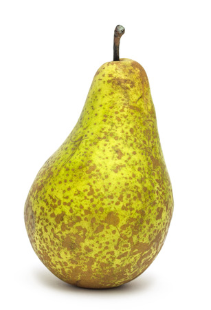 appetizing: Appetizing ripe pear isolated on white