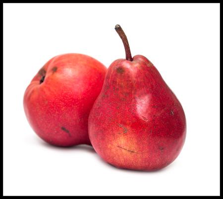 appetizing: Appetizing ripe pear isolated on white background